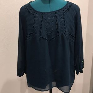Skies are Blue embroidered blouse 2XL minor snag